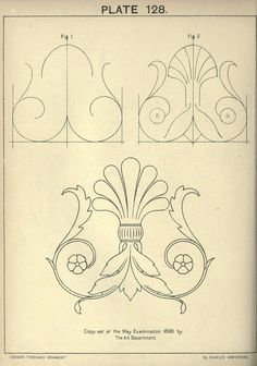 """Paper Embroidery Patterns """"Cusack's freehand ornament by Ch. Paper Embroidery, Embroidery Patterns, Art Nouveau, Ornament Drawing, Karten Diy, Carving Designs, Leather Pattern, Geometric Art, Islamic Art"""