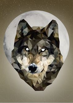Wolf - Low Poly Art on Behance