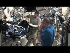 Astronaut and chemist Dr. Don Pettit demonstrates acoustical resonance from the International Space Station using vacuum hose