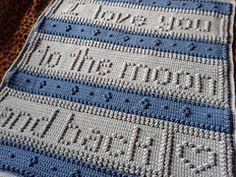 Ravelry: Project Gallery for MOON blanket pattern by Jody Pyott Crochet Afghans, Crochet Blanket Patterns, Baby Blanket Crochet, Crochet Baby, Crochet Blankets, Baby Afghans, Baby Blankets, Bobble Stitch Crochet, Knit Or Crochet