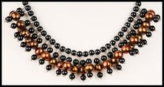 Bronze Colored Freshwater Pearl and Black Onyx by floweravenue, $42.00 Oxidized Sterling Silver, Black Onyx, Fresh Water, Chokers, Bronze, Necklaces, Pearls, Chain, Color