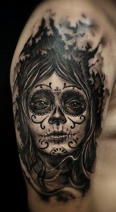 Santa muerte cleanfun tattoo