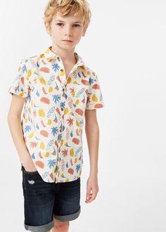 Camisa algodón estampada | MANGO KIDS
