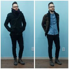 H&M Scarf, Zara Jacket, Cheap Monday Jeans, Frank Wright Boots, Forever 21 Sweater, H&M Shirt