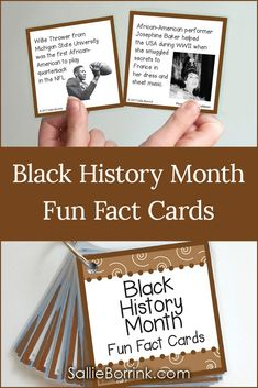 Learn about amazing men and women with Black History Month Fun Fact Cards. Each - History Black History Month Facts, Black History Month Activities, History Bulletin Boards, History Classroom, African American History Month, Famous African Americans, History Quotes, Art History, Canadian History
