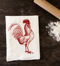 Rooster Kitchen Towel, Set of 2 | Cleaning windows, wiping down counters, covering dough while i... | Kitchen Towels