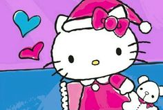 Hello Kitty Hello Kitty Christmas, Sanrio, Fictional Characters, Art, Art Background, Kunst, Performing Arts, Fantasy Characters, Art Education Resources