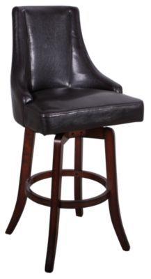 Homemakers Furniture: Brown Swivel Barstool: Steve Silver Co.: Dining: Barstools