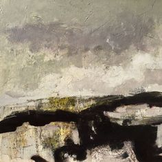 Lewis Noble - Derbyshire Artist - Bruised Sky, 56x56cm, Oil & Mixed media on canvas
