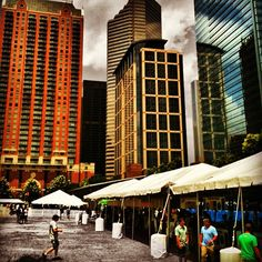 Great shot from Discovery Green at Texas Beer Fest