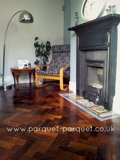 'We did this ourselves!' - a diy picture gallery of completed reclaimed parquet floors: our parquet and our customers doing it for themselves - brilliant!