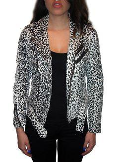 Black and White Leopard Moto Jacket from Tripp NYC - Pixie Kitsune