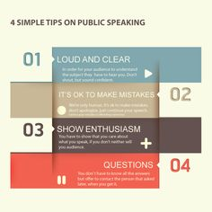 4 simple tips about avoiding the 4 most common public speaking errors—http://www.toastmasters.org/tips.asp