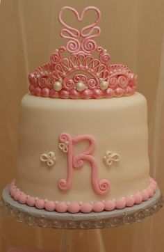 Princess Birthday Cake from Hostess with the Mostess® - A Pink & Yellow Princess Tea Party