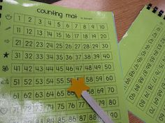 Counting mats during small group warm ups. Great for the repetitive practice needed! {free}