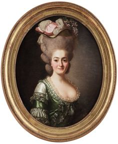 """ALEXANDER ROSLIN, PORTRAIT OF A LADY, CALLED """"MARCHIONESS DE VAXEN"""". Signed le chev: Roslin and dated 1778. Canvas, oval, 82.5 x 66 cm. #Bukowskis"""