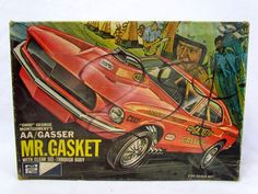 Vtg MPC Ohio George Mongomery's AA/Gasser Mr. Gasket See Through Body Model Kit #MPC