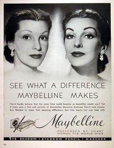 Image detail for -1952 Maybelline Makeup - Makeup original vintage advertisement. See ...