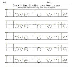 Worksheets Writing Kindergarten Worksheets 1000 images about handwriting on pinterest worksheets kids i would use this worksheet with students so they can work their we