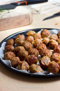 Baked turkey meatballs - Chiftelute la cuptor ~ bucatar maniac