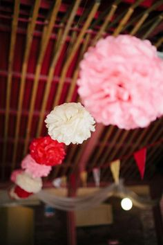 Let's get crafty! It's time to make your very own pom pom decorations for your wedding