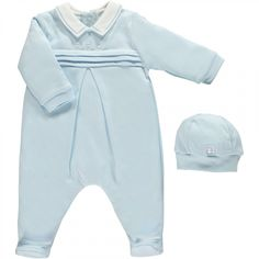 Kieran - baby boy blue All in One. This adorable little outfit for baby boy  features cute bear detailing and a pull on hat. Perfect outfit for new baby. 2b086e22a165