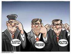 Die drei Affen: Justiz, Presse und Politik #Realsatire #Staatsfeind #Deutschlandhasser