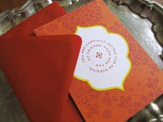 Casbah Dinner Party Invitation Pack by Earmark Social Includes Fill-In Invitations, Placecards and Menus all in a muslin bag. What Fun!