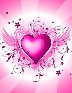 Hot Pink Heart Picture