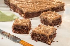 These Loaded German Chocolate Brownies are decadently gooey, which makes them the perfect midnight snack.