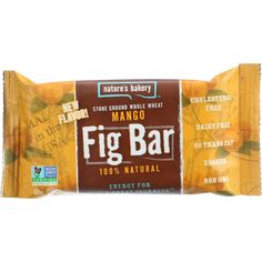 Natures Bakery Fig Bar -stone Ground Whole Wheat - Mango - 2 Oz - Case Of 12 Healthy Food Options, Healthy Snacks, Fig Bars, Trans Fat, Energy Bars, No Cook Meals, Dairy Free, Bakery, Mango