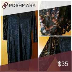Black Lace over Black Slip Form fitting; Classy and Sexy!!! Brand NEW without Tags. Dresses Midi