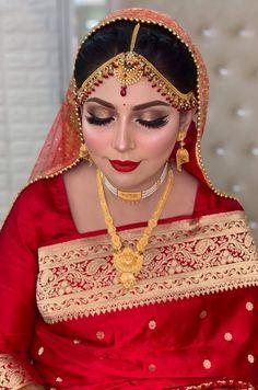 Bridal Beauty, Bridal Makeup, Gold Jewellery Design, Gold Jewelry, Islam Wedding, Stylish Jewelry, Bridal Collection, Pakistani, Brides