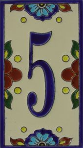 Decorative Tile House Numbers Talavera House Numbers  House Numbersblue Talavera  Thn04  For