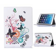 Butterfly Design Leather Case with Stand for iPad Air 2 / iPad mini 3