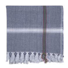 Found Cotton Towels in Blue/Forest Stripe design by Sir/Madam