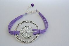 Silver Love Dream Hope Trust Circle Tree of Life by BeMyCharm, $9.25