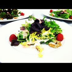 Raspberry, Goat Cheese, Walnut and Mixed Greens - light & tasty    By Blue Plate Catering in Chicago
