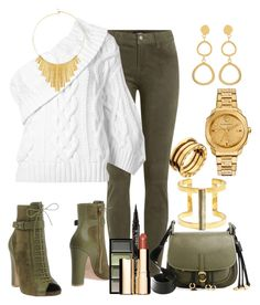 """""""Untitled #485"""" by fasttrack2fashion ❤ liked on Polyvore featuring J Brand, Rosie Assoulin, Elie Saab, Clé de Peau Beauté, Smith & Cult, Clarins, Bulgari, Marjana von Berlepsch, BERRICLE and SOKO"""