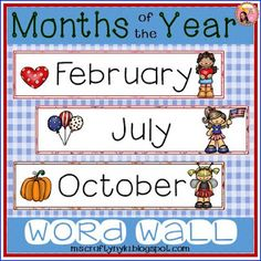 Nyla's Crafty Teaching: Months of the Year Word Wall
