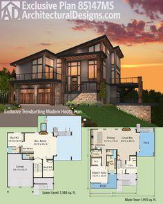 architectural designs slam hit modern house plan house plan