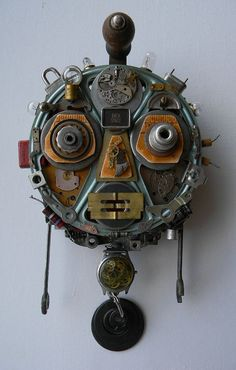 Recycled Art Assemblage  R.O.B.O.T. Unmasked  by redhardwick, $110.00
