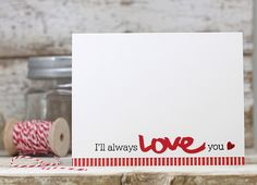 I'll Always Love You Card by Laurie Willison for Papertrey Ink (December 2015)