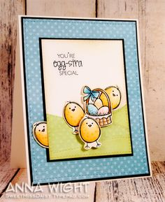 Small Easter Chicks - Anna Wight by SweetMissDaisy - Cards and Paper Crafts at Splitcoaststampers