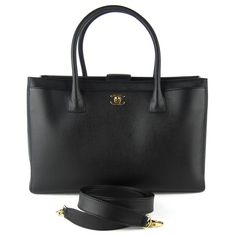 Chanel Cerf Tote in Caviar Leather.
