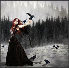 Dark Red-Headed Angel