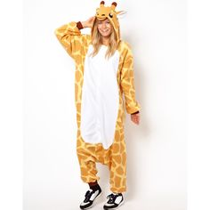 Kigu Giraffe Onesie (1,490 THB) ❤ liked on Polyvore featuring onesie