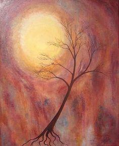 Harvest Moon - original painting on canvas