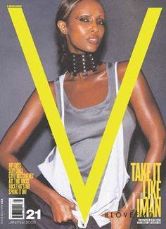 V magazine cover; Iman by Mario Testino 2003 V Magazine, Magazine Covers, David Bowie Wife, Iman Cosmetics, Mario Testino, Ageless Beauty, Photo Diary, Esquire, Supermodels