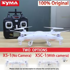 Syma X5C-1 (Upgrade version Syma X5c) Quadcopter Drone With Camera or Syma X5-1 (Upgrade syma x5) rc helicopter without camera